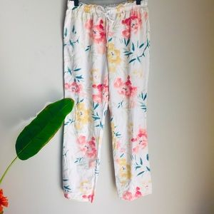 Gilligan & O'Malley Cotton Floral Draw String Pant